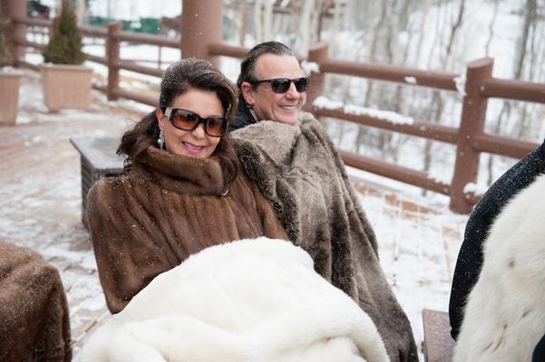 Outdoor Winter Wedding Photography: Snowy Outdoor Winter Ceremony & Cozy Lodge Reception
