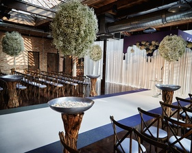 Beautiful baby's breath hanging for aisle & chuppah decor.