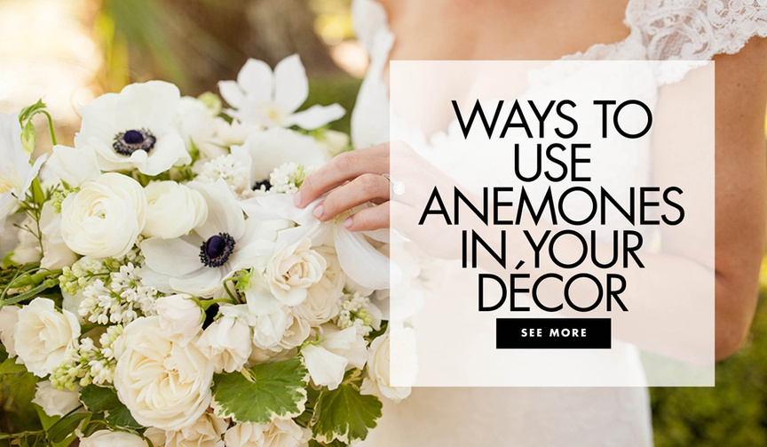 ways to use anemone flowers in your wedding decor anemone bouquets