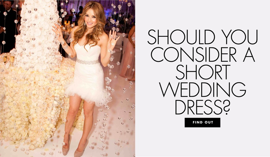 should you consider a short wedding dress find out the pros and cons
