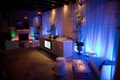 Blue and green reception uplighting