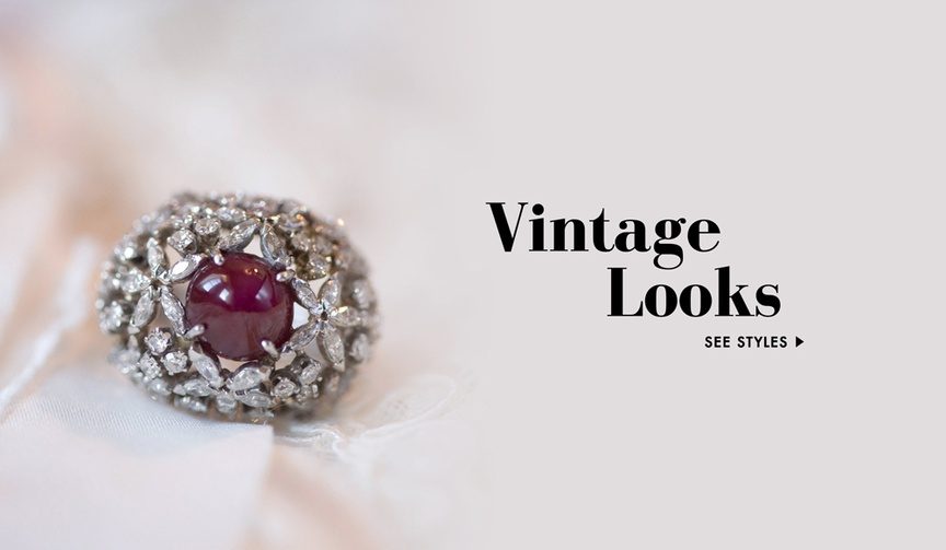 Vintage inspired wedding rings and jewelry
