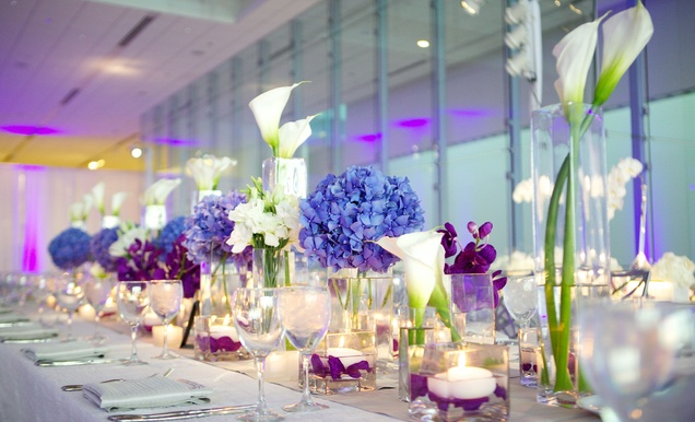 Modern Purple Blue White Wedding At Contemporary Chicago Venue