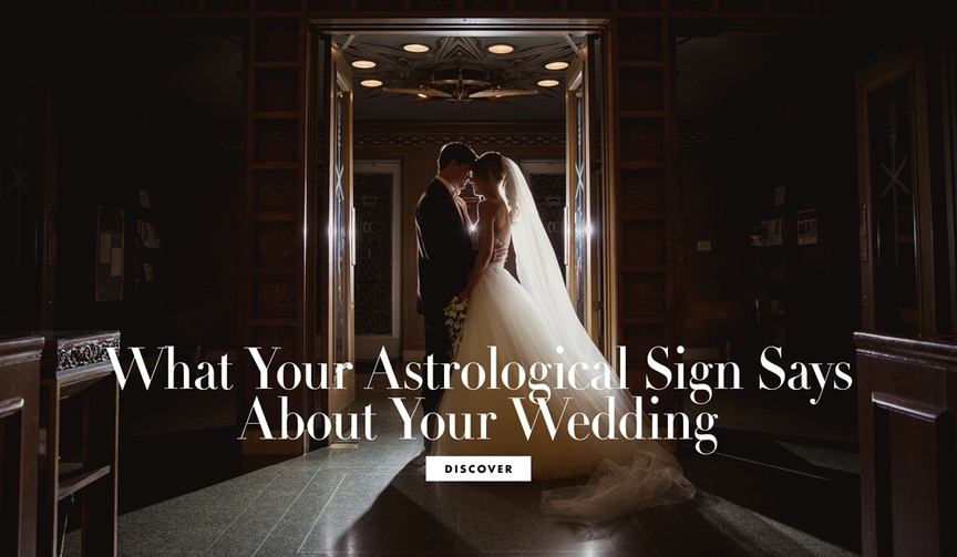 what your zodiac astrological sign says wedding marriage themed wedding star sign motif concept