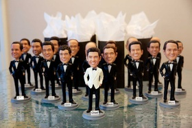 Chad Carroll bobblehead with groomsmen bobblehead wedding gifts