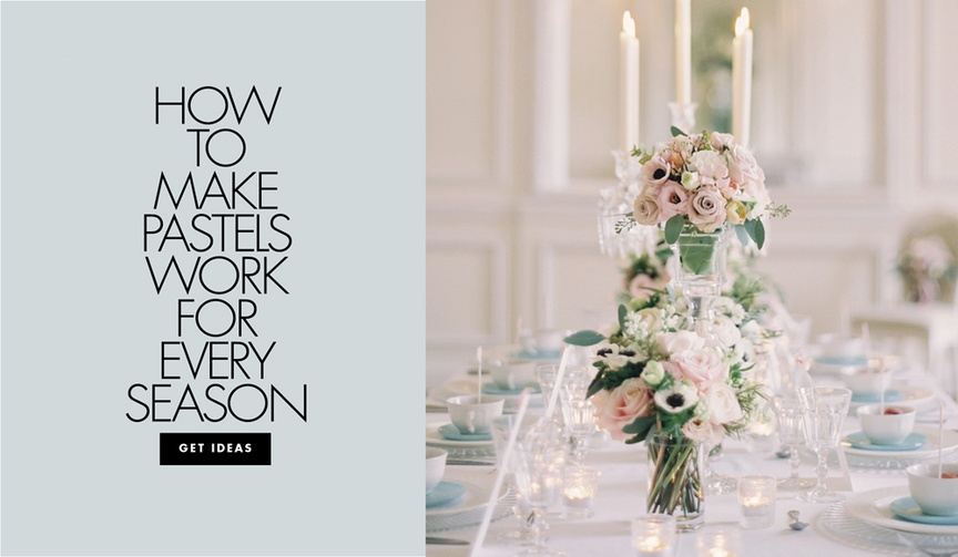 pastel color scheme for weddings in every season, fall pastel wedding, winter pastel wedding