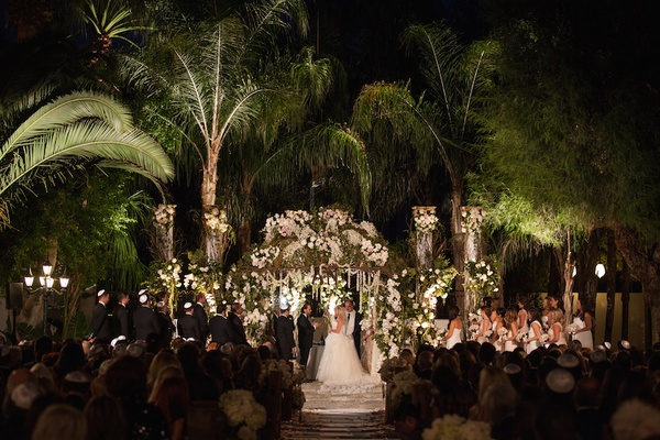 Rustic vintage outdoor wedding in palm springs inside weddings coachella venue wedding ceremony at night junglespirit