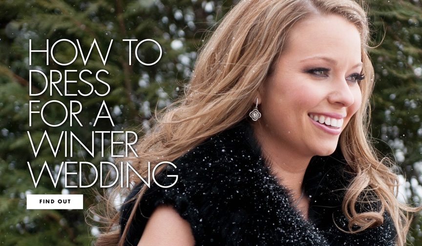 How to dress for a winter wedding as a guest