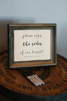 Wedding ideas guestbook alternative wine barrel or whisky barrel signing for decor home ideas