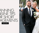 Planning timeline tips for short engagements