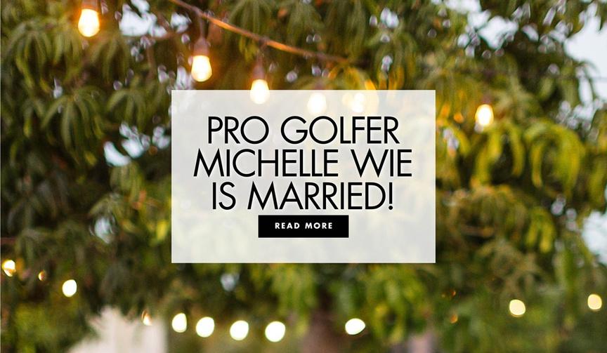 professional golfer golf champion michelle wie is married to johnnie west
