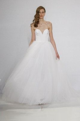 Christian Siriano for Kleinfeld Bridal strapless ball gown with sweetheart neckline and tulle skirt