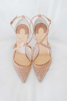 Christian Louboutin Twistissima Strass Women Strappy Red Sole Pumps wedding shoes heels bridal