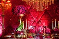 beauty and the beast inspired table setting