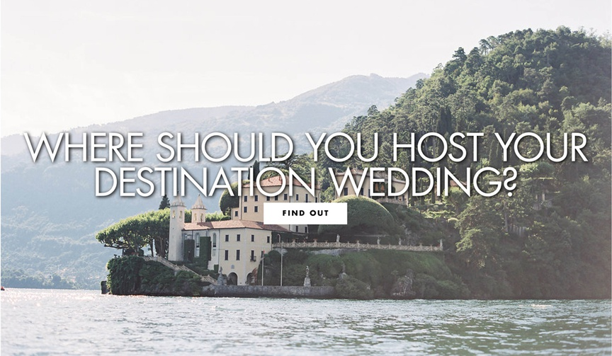 where should you host your destination wedding