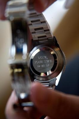 Groom's wedding gift idea from bride men's watch