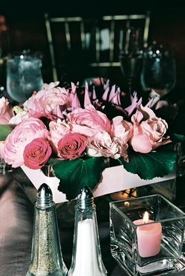 Pink rose and peony flower arrangements