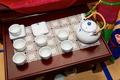 Teapot with teacups for Korean tea ceremony