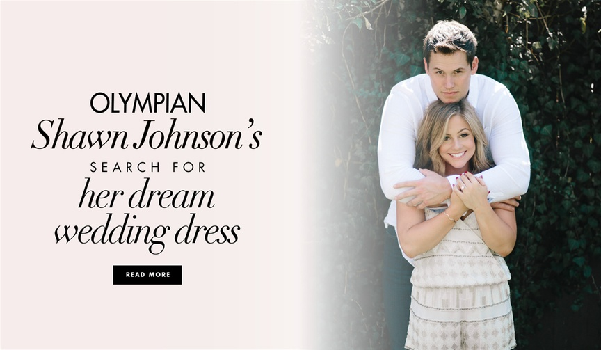 Shawn Johnson wedding dress for wedding marriage to Andrew East