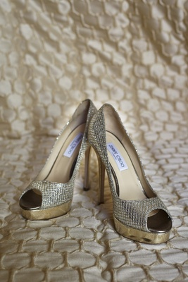 Wedding day Jimmy Choo heels with sparkle