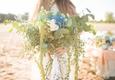 Eucalyptus, hydrangea, amaranthus bouquet blue green greenery