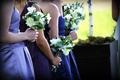 Succulent, dahlia, and fern bouquet