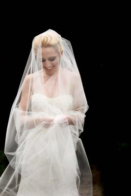 bridal portrait veil napa wedding