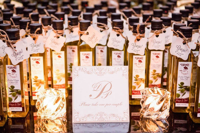 Favors Gifts Photos Olive Oil Wedding Favors With Signs Inside