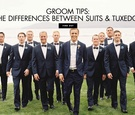 how to tell the difference between suits and tuxedos, wedding attire for grooms