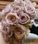 Bridesmaid's bouquet of light pink roses