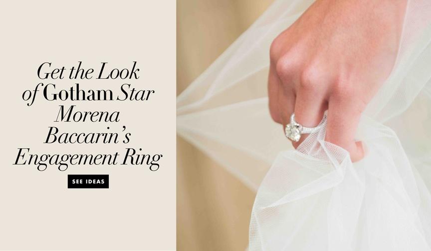 gotham ben mckenzie engagement ring inspiration, solitaire high-set prongs diamond