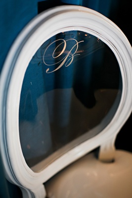 Bride-to-be monogrammed chair