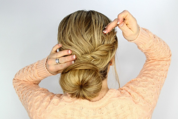 Wedding Day Hairstyles Fishtail Braid Wrapped Bun Tutorial