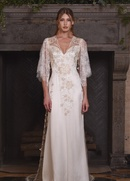 Claire Pettibone Four Seasons Couture Collection Reverie tulle v-neck sheath bridal gown