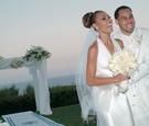 Lisa Coffey and Demetrius Spencer at wedding