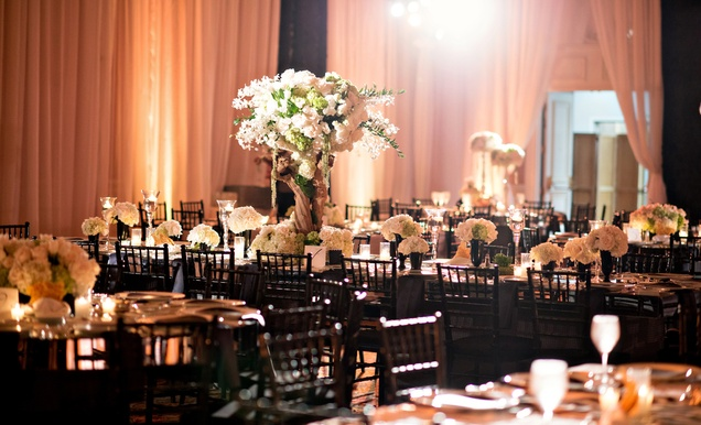 Jewish Ceremony + Modern Reception With Black And White
