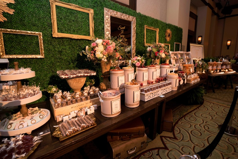 Cakes & Desserts Photos - Dessert Table with Frames - Inside Weddings