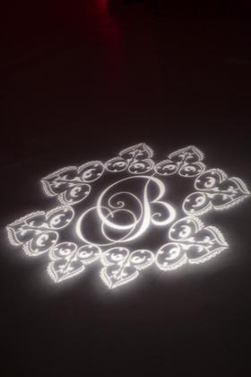 Black and white custom monogrammed lighting