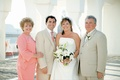Mother-of-the-Groom wearing coral dress