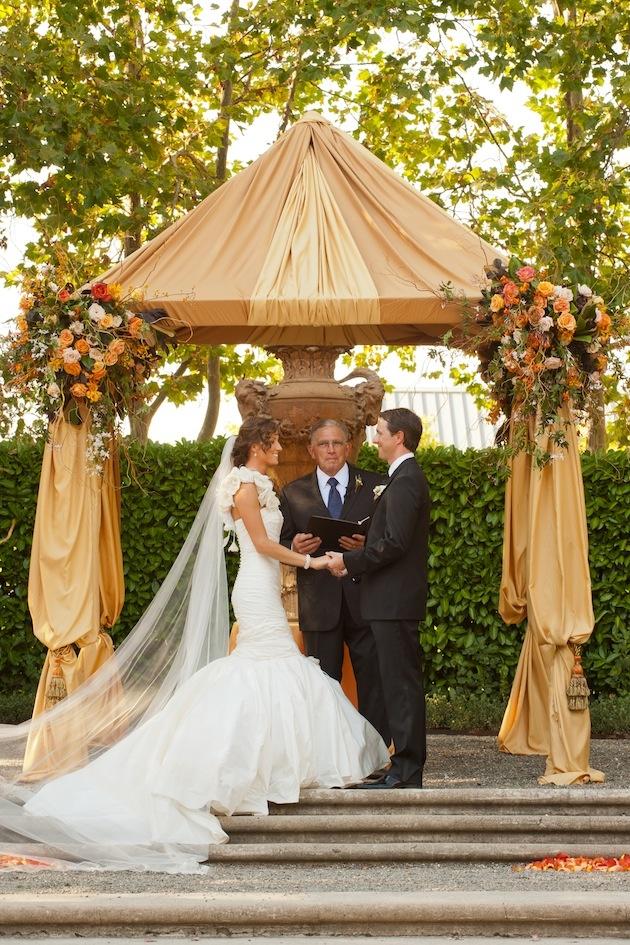 Ines Di Santo wedding dress at marriage ceremony