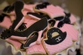 Pink and black fashion cookies