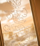 welcome sign large mirror calligraphy katrina wedding professional white gold california modern