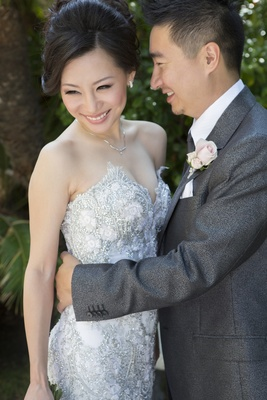 Asian American wedding couple in California