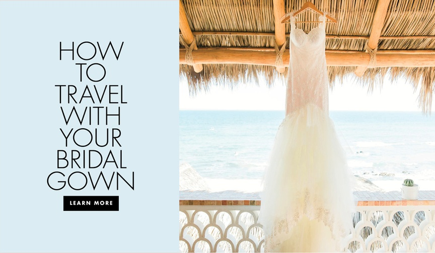 Tips for traveling with your wedding dress bridal gown on a flight
