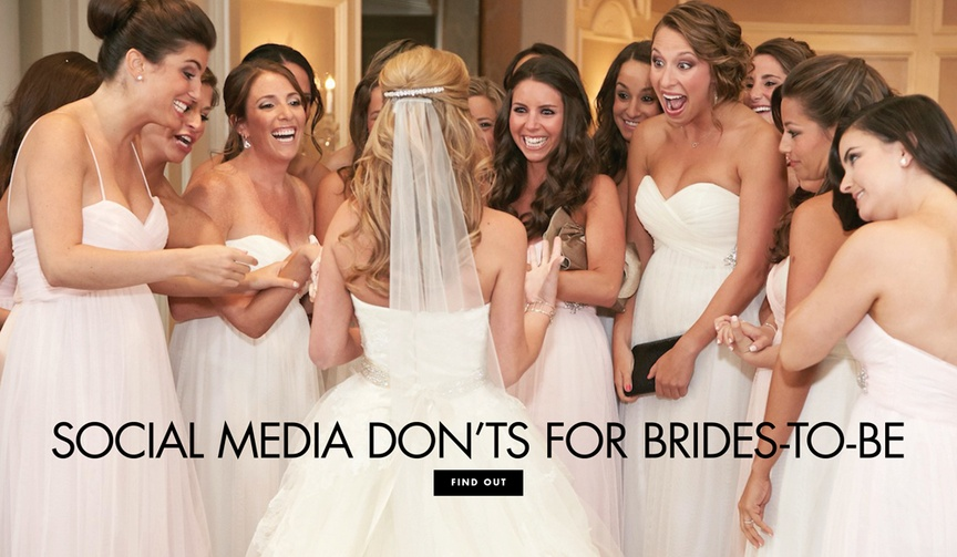 what a bride shouldn't post on social media