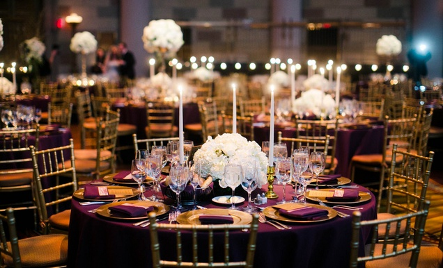 Gatsby Inspired Jewish Wedding With Purple Amp Gold D 233 Cor In