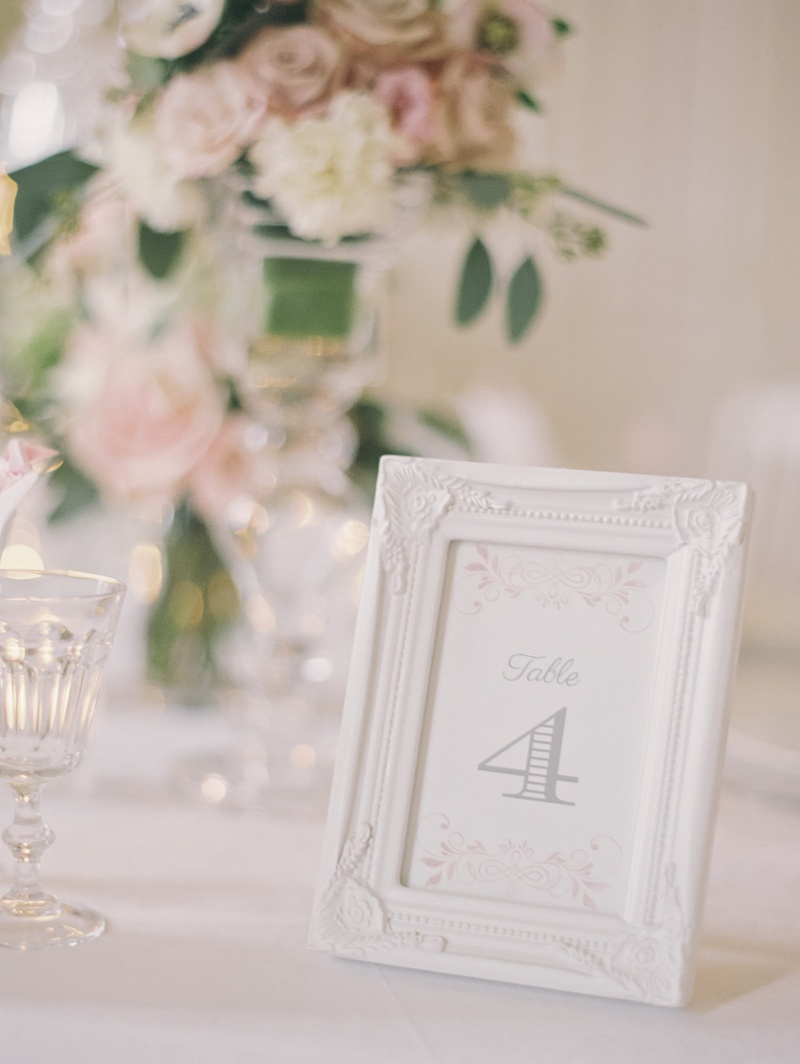 Reception Décor Photos Table Number In White Frame Inside Weddings