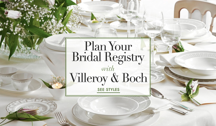 Wedding registry tips and advice from Villeroy & Boch