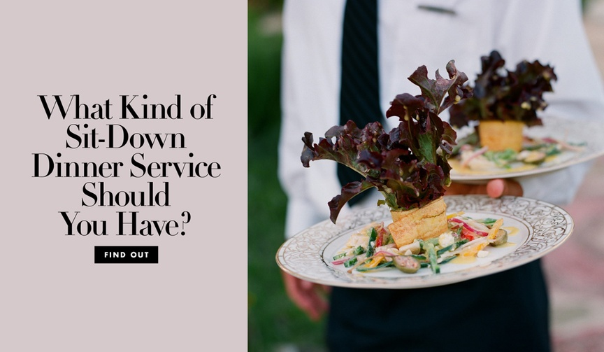 types of sit-down table service, american service, english service, russian service