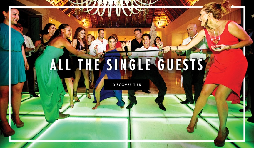 How to help single wedding guests at reception